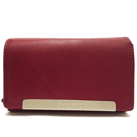 Kožená dámská peněženka Roberto 2008 - vínová, Barva Vínová Roberto