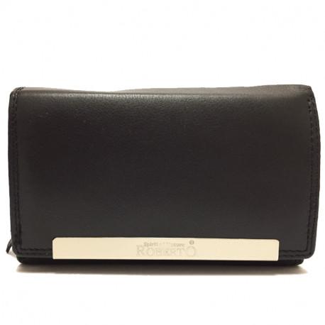 Kožená dámská peněženka Roberto 2008 - černá, Barva Černá Roberto