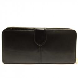 Koženková dámská peněženka - černá