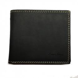 Pánská kožená peněženka Loranzo 464 - černá