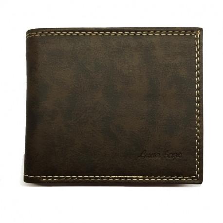 Pánská koženková peněženka Luna Bags - hnědá