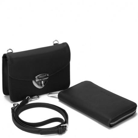 Dámský set - crossbody kabelka a peněženka David Jones 5504B-2 - černá a9ac1992839