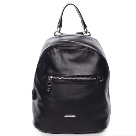 Elegantní městský dámský batoh David Jones 5675a-2 - černý, Barva Černá David Jones