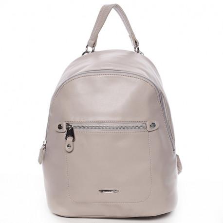 Elegantní městský dámský batoh David Jones 5675a-2 - šedý, Barva Šedá David Jones