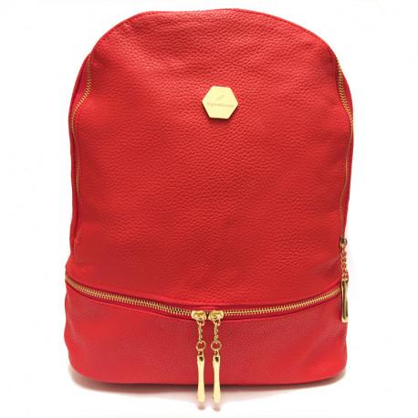 Elegantní dámský batoh Eighty&Ninety - červený, Barva Červená
