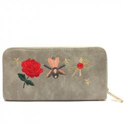 Dámská peněženka z eko kůže N50 - šedá