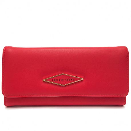 Dámská peněženka z eko kůže 519 - červená
