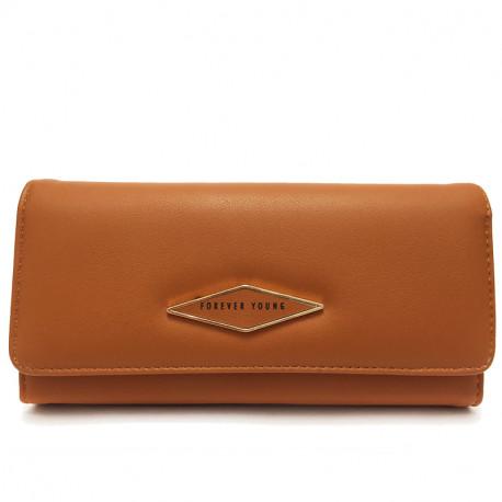 Dámská peněženka z eko kůže 519 - hnědá