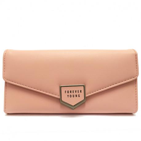 Dámská peněženka z eko kůže 519 - růžová
