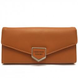 Dámská peněženka z eko kůže 1245 - hnědá