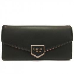 Dámská peněženka z eko kůže 1245 - černá