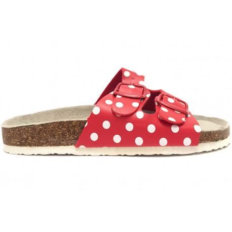 8107c1505292 Dámské korkové pantofle Samlux - Červená