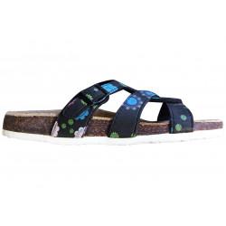 Dámské korkové pantofle Samlux 898 - Černá