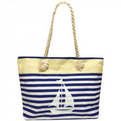 Velká plážová taška s potiskem - tmavě modrá