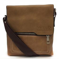 Elegantní pánská crossbody taška 4903 - hnědá