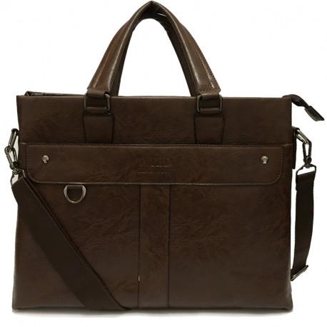 Velká pánská taška s ramenním popruhem 180-3 - hnědá