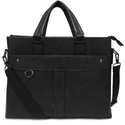 Velká pánská taška s ramenním popruhem 186-3 - černá