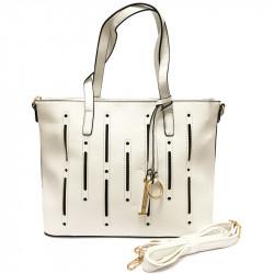 Dámská kabelka s ramenním popruhem David Jones cm2546 - bílá