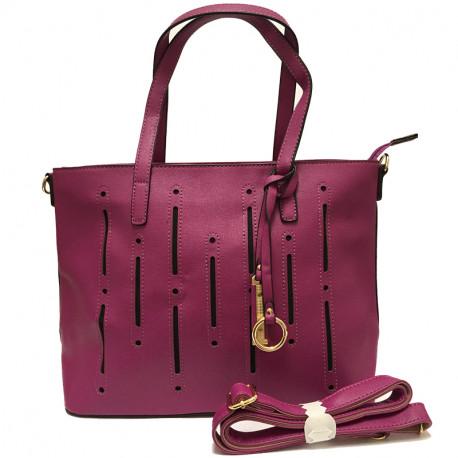 Dámská kabelka s ramenním popruhem David Jones cm2546 - fialová acd989add05