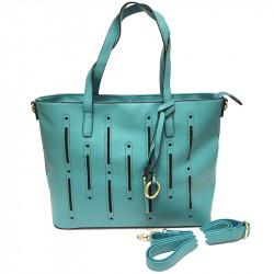 Dámská kabelka s ramenním popruhem David Jones cm2546 - tyrkysová