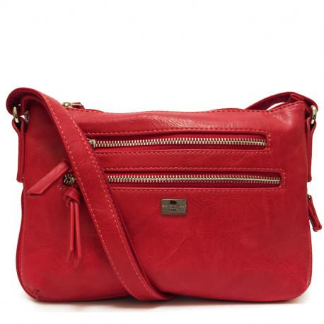 Dámská crossbody kabelka David Jones cm3840 - červená, Barva Červená David Jones Sleva 100 Kč