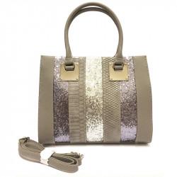 Dámská kabelka s ramenním popruhem David Jones cm3796 - šedá
