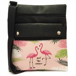 Dámská crossbody kabelka s potiskem - růžová