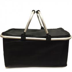 Skládací piknikový termo košík - černý