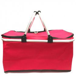 Skládací piknikový termo košík - červený