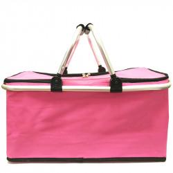 Skládací piknikový termo košík - růžový