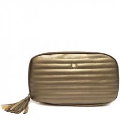 Prostorná dámská peněženka s přívěskem David Jones P062 - bronzová