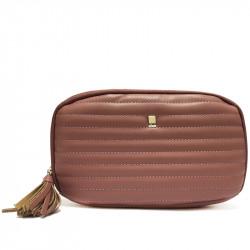 Prostorná dámská peněženka s přívěskem David Jones P062 - fialová