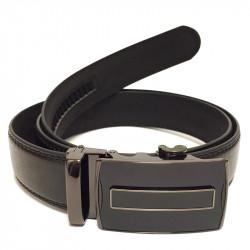 Elegantní pánský koženkový pásek s kovovou sponou Z04