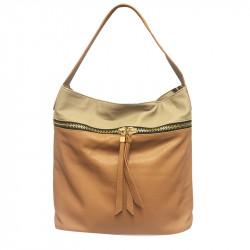 Prostorná dámská kabelka David Jones 3843-1 - hnědá