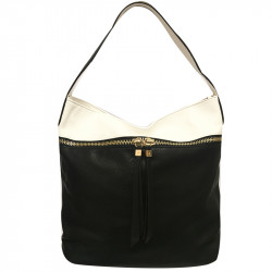 Prostorná dámská kabelka David Jones 3843-1 - černobílá