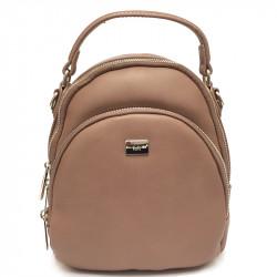 Elegantní městský dámský batoh David Jones 5814-2a - tmavě růžový