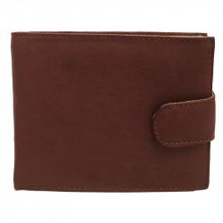 Pánská kožená peněženka Delami s dárkovou krabičkou 3131 - hnědá