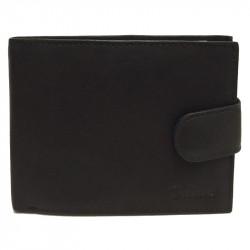 Pánská kožená peněženka Delami s dárkovou krabičkou 3131 - černá