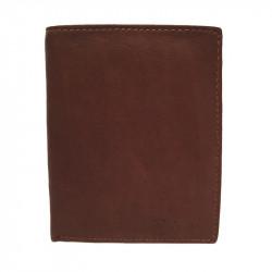 Pánská kožená peněženka Delami s dárkovou krabičkou 3119 - hnědá